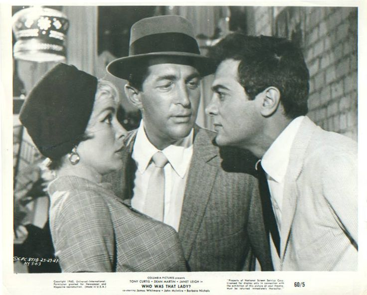 Dean Martin with Janet Leigh & Tony Curtis - Who was That Lady? - 1960