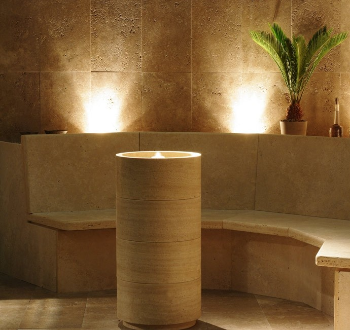 ... bagno in pietra on Pinterest  Different types of, Stone sink and