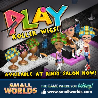 Roll in to the Rinse Salon to put your hair in rollers... www.smallworlds.com