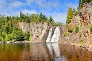 'Highest waterfall entirely within Minnesota'