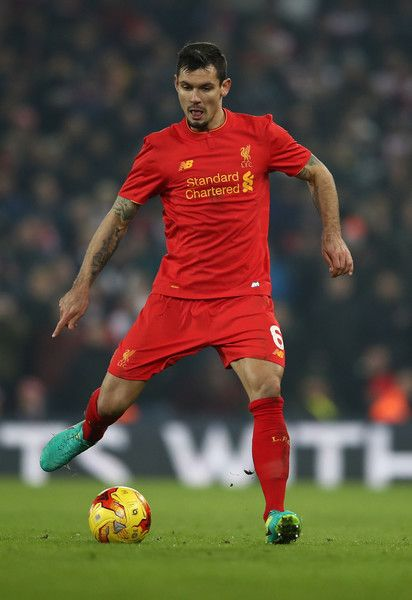 Dejan Lovren of Liverpool in action during the EFL Cup Semi-Final Second Leg match between Liverpool and Southampton at Anfield on January 25, 2017 in Liverpool, England.