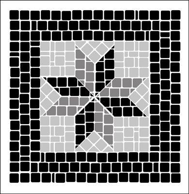 Corner/Tile No 2 stencil from The Stencil Library MOSAIC range. Buy stencils online. Stencil code ML16.