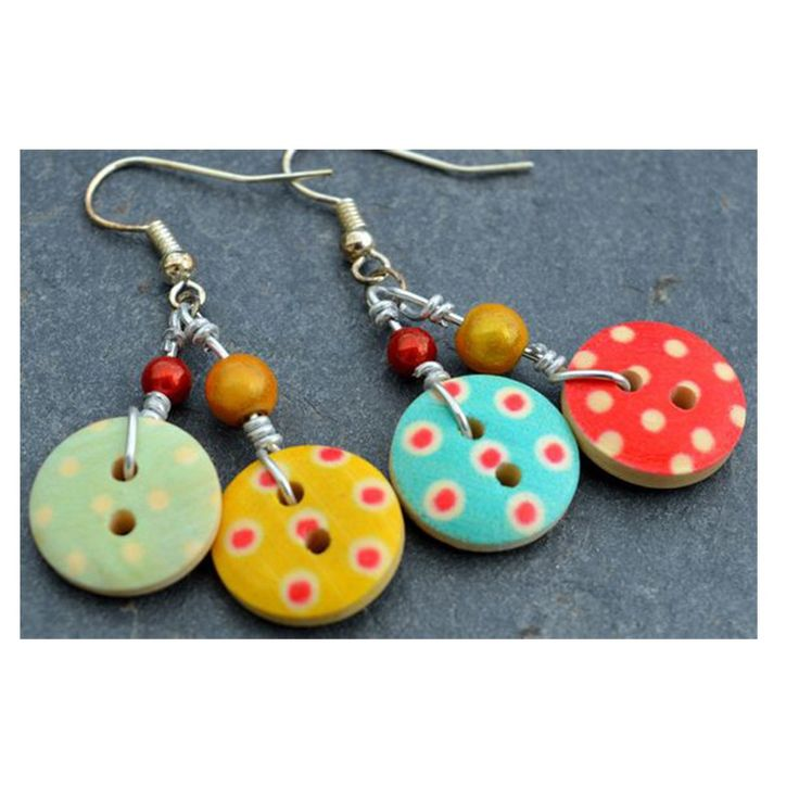 Amazing Button earrings