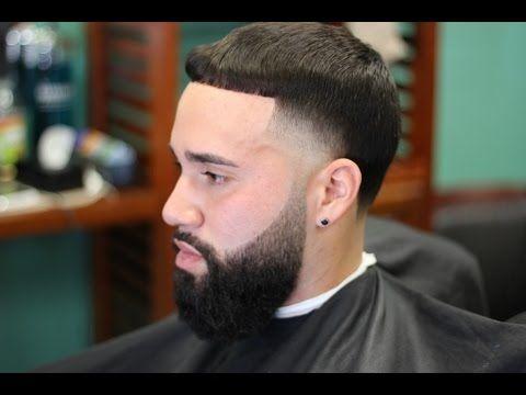 high skin taper with blended beard  beard fade beard