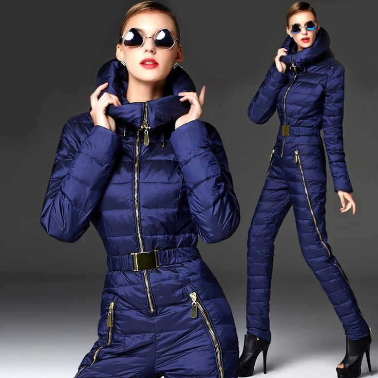 2016 winter warm one piece ski suits women down one piece