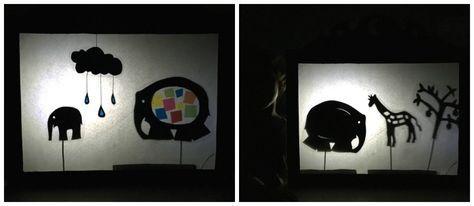 Teatro de sombras con el cuento Elmer (con imprimibles)