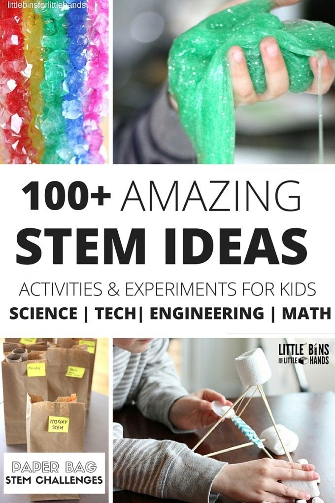 Science Experiments and STEM Activities for kids Science Engineering Technology Math Ideas