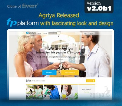 @Agriya released a new Fiverr clone script ,FPPlatform-2.0b1 with exceptional look and enhanced design  More about new fiverr clone: http://www.agriya.com/products/fiverr-clone