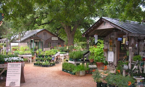 Rental cottages at Fredericksburg Herb Farm in Fredericksburg, TX.