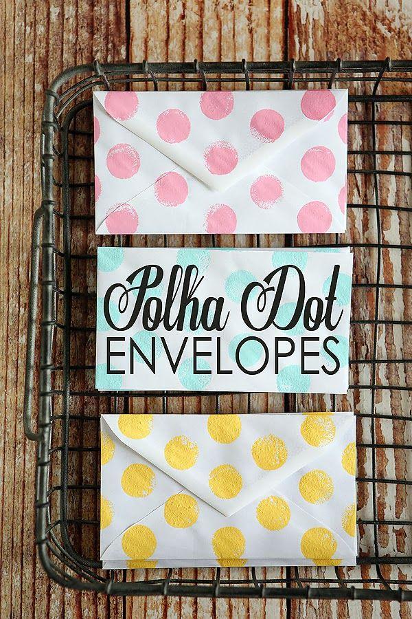 DIY Polka Dot Envelopes - so simple and fun to make!