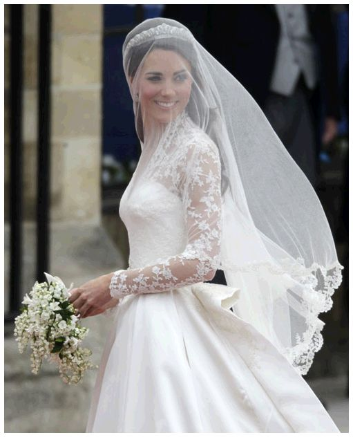 I like how she pulled off a veil over her face. It's such a sweet, old-fashioned, traditional thing.