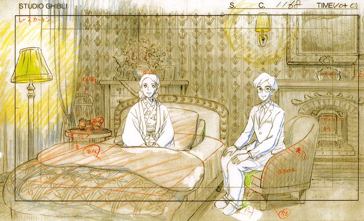 artbooksnat: A selection of animation layouts for Studio Ghibli's The Wind Rises (風立ちぬ) from The Wind Rises Roman Album Extra (Amazon US   JP), with a focus on the romance between Jiro Horikoshi and Naoko Satomi.