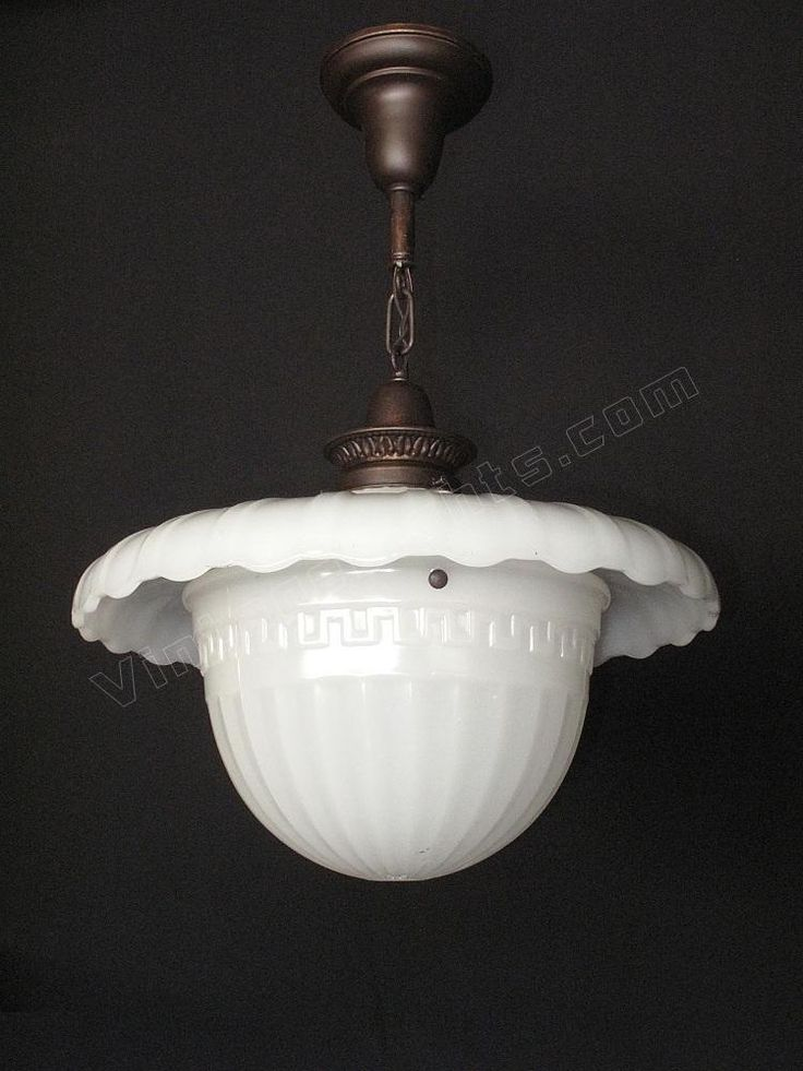 Antique Milkglass fixtures