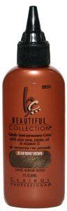 CLAIROL Professional Beautiful Collection Gentle Semi- Permanent Color B11W Honey Brown Level 4-Base Gold 3oz/88 ml. CLAIROL Professional Beautiful Collection Gentle Semi- Permanent Color B11W Honey Brown Level 4-Base Gold 3oz/88 ml. 3 Ounce.