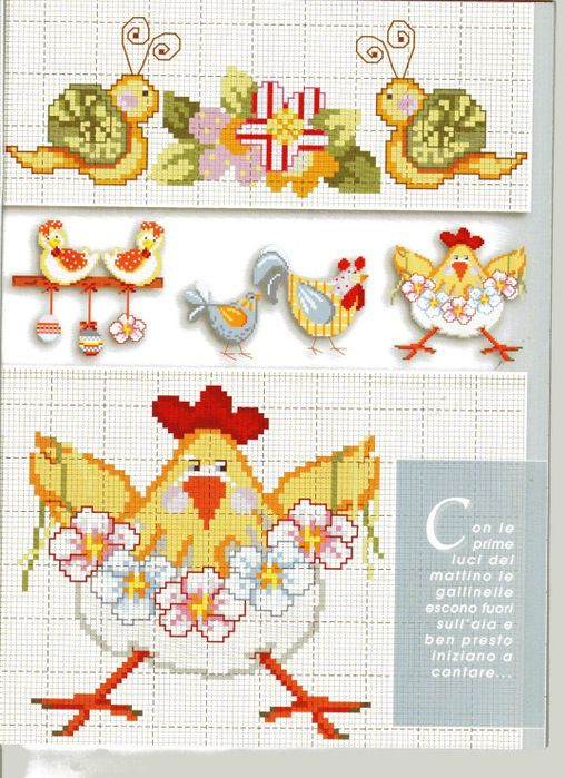 chicken embroidery