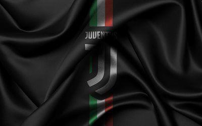 Scarica sfondi Juventus, 4k, il nuovo logo, in Serie A, l'Italia, il calcio, la nuova Juventus emblema, Torino