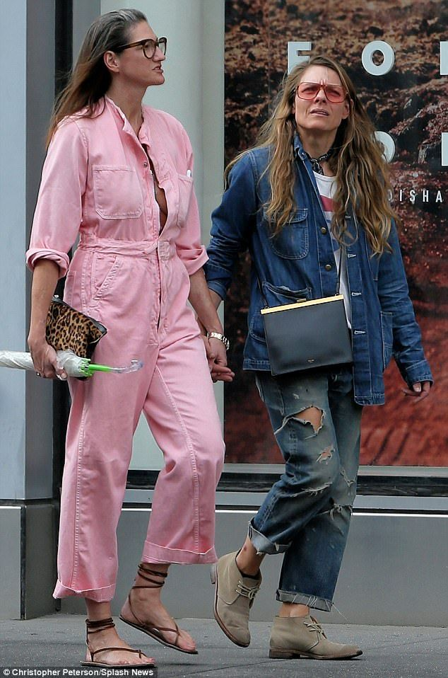 On vacay: Jenna Lyons was seen in New York City walking hand-in-hand with her partner Courtney Crangi