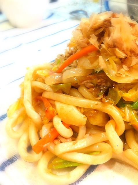 うどんより野菜の方が多いんじゃない⁈ な出来上がり(^_^;) - 29件のもぐもぐ - 焼うどん by yokoki
