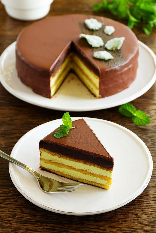"""ТОРТ. Шоколадно-мятная """"Опера"""" от Кристофа Мишалака... Mint Cake """"Opera"""" home cooking."""