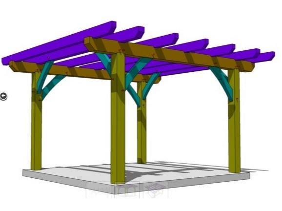 Want to build a pergola?  Check out our FREE plan!  - http://timberframehq.com/free-pergola-plan/?utm_content=buffer0c668&utm_medium=social&utm_source=pinterest.com&utm_campaign=buffer