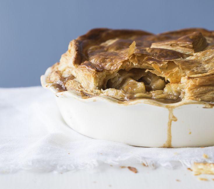 Apple, feijoa and maple pie