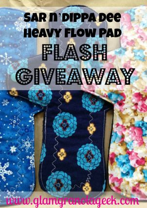 Sar n'dippa Dee Cloth Pads Review + Giveaway at Maman Loup's Den! #giveaway #clothpads