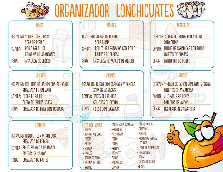 17 mejores ideas sobre comidas semanales en pinterest for Menu para comida familiar