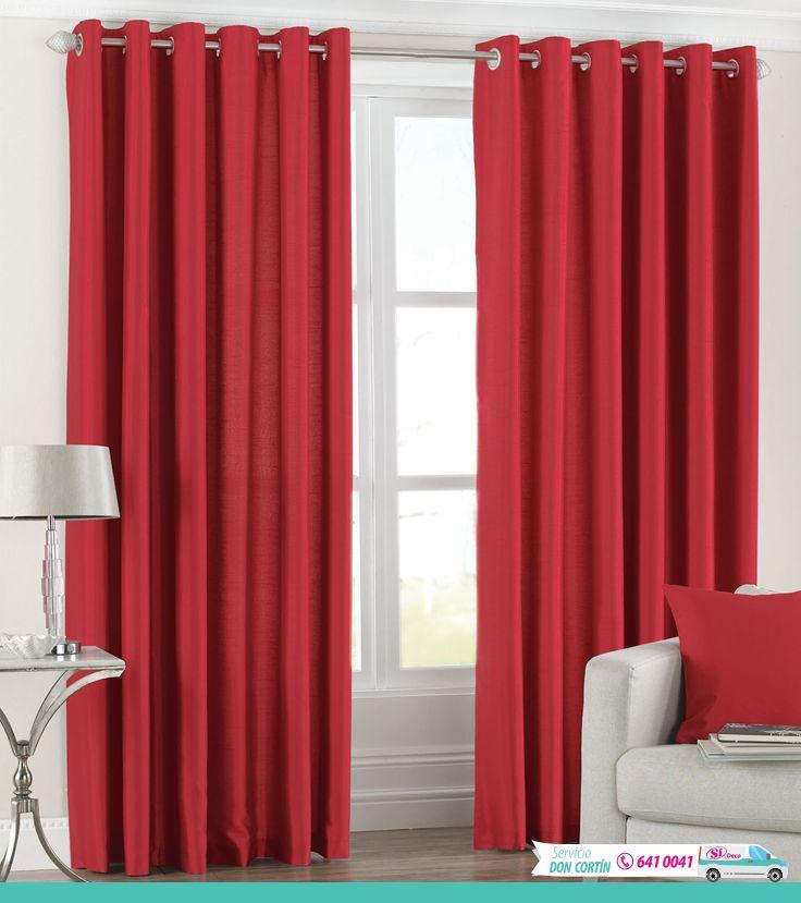 Nada como llenar de pasión tu hogar. Crea hermosos y llamativos contrastes con cortinas rojas. ¿Qué opinas de este modelo en textil rígido y anillos metálicos? ¡Divino!  Llámanos en Colombia al +(57) 641 0041