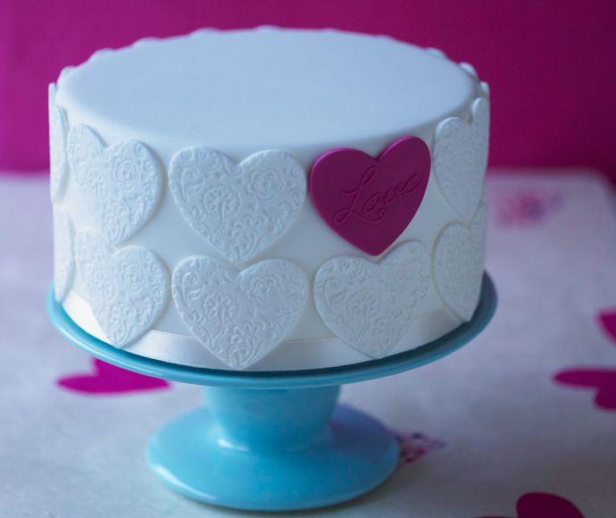 Romantische harten taart
