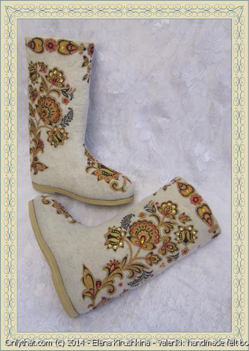 Firebird - valenki, handmade felt boots. 373.00 usd