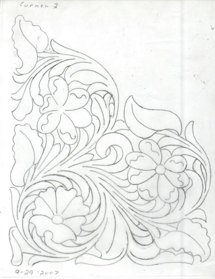 It is a picture of Exceptional Printable Leather Tooling Patterns