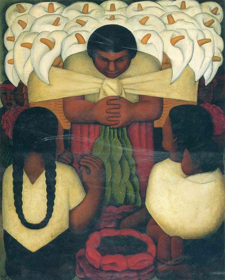 Diego RiveraArtists, Flower Festivals, Diego Rivera, Colors Time, Mexico, Frida Kahlo, 1925, Rivera Painting, Diegorivera