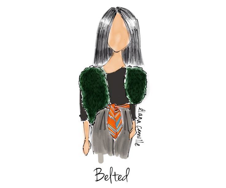 How to Style a Scarf - belted
