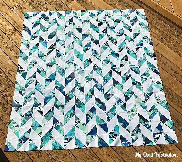 Herringbone in Blues | My Quilt Infatuation | Bloglovin'
