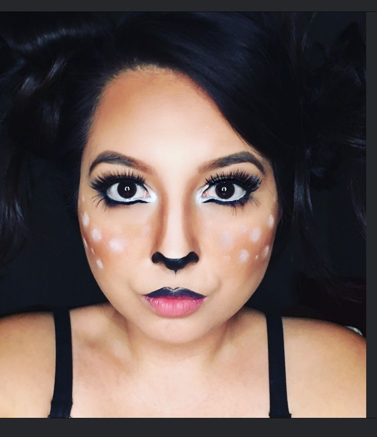 Deer makeup Halloween #doe