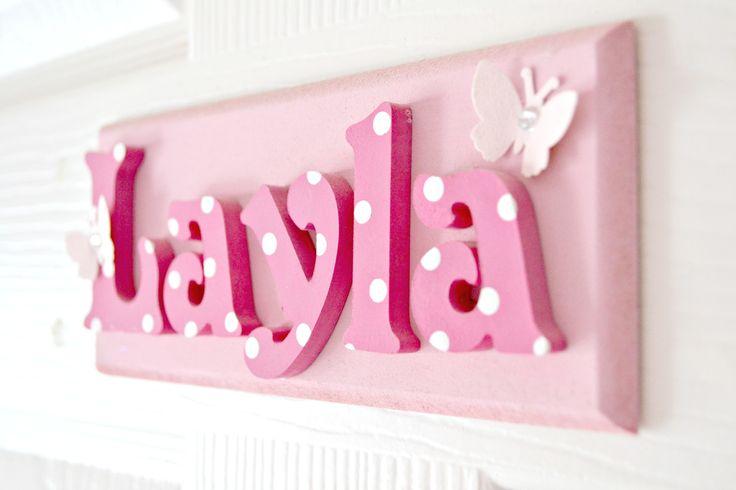 Layla's door name plaque - www.suggys.co.uk/Leanne