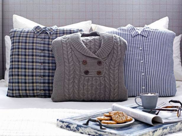 Craft - make pillows out of old sweaters or shirts