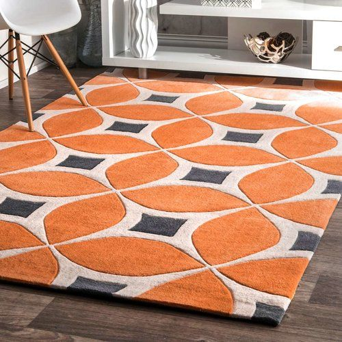 Found it at AllModern - Stoltenberg Hand-Woven Deep Orange Area Rug