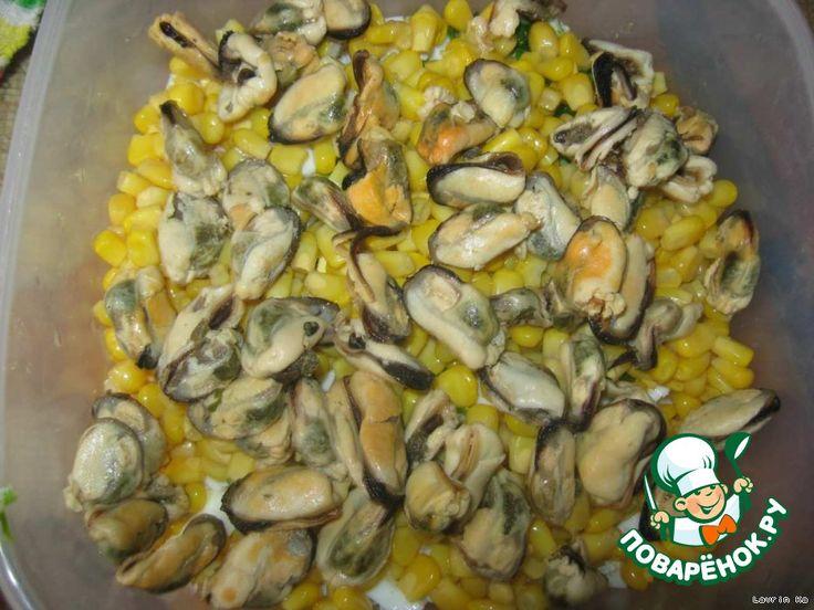 Кулинарные рецепты салаты мидии кальмары