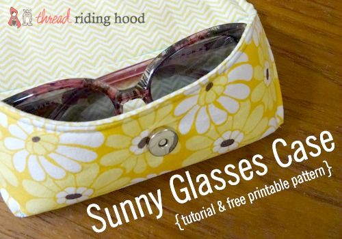 We love this free tutorial and pattern for this handy glasses case by Thread Riding Hood that you'll love.