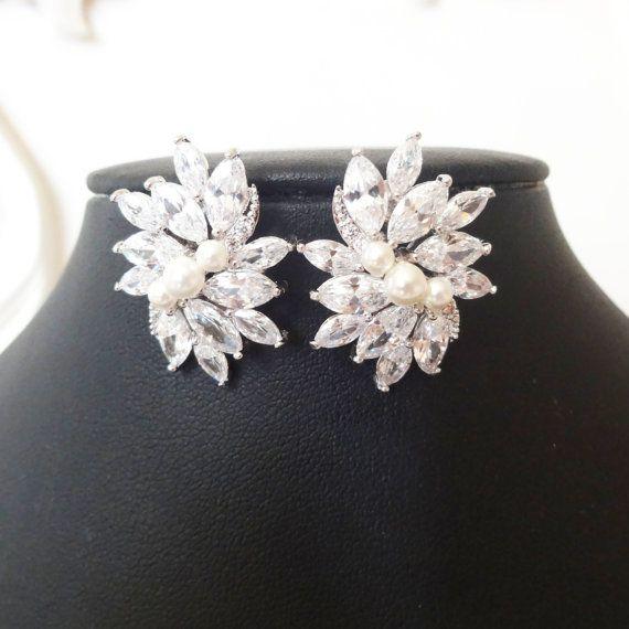 Déclaration mariage boucles d'oreilles zircon par luxedeluxe