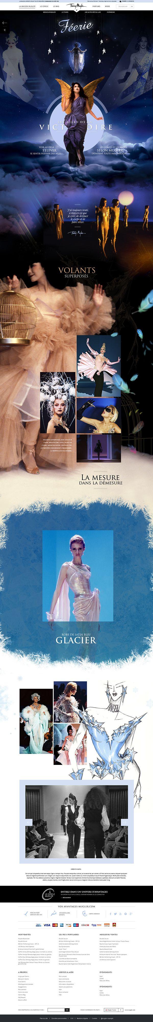 Thierry Mugler Heritage. #WebDesign #Design #Fashion