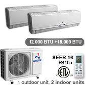 2 Zone Inverter - Air Conditioner And Heat Pump 12000 and 18000 BTU