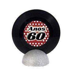 Enfeite de Mesa Disco de Vinil PEQUENO - Anos 60