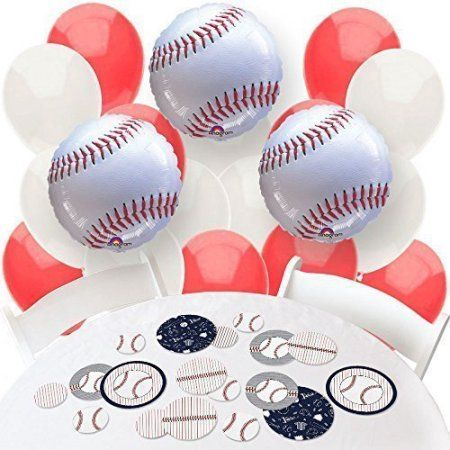 Batter Up - Baseball - Confetti and Balloon Party Decorations - Combo Kit - Walmart.com