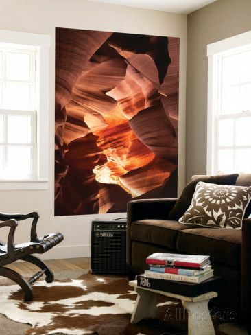 Red Sandstone Walls of Lower Antelope Canyon, Page, Arizona, USA Wall Mural