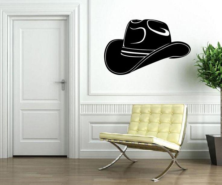 Vinyl Decal Wall Sticker Cowboy Hat Texas Lone Star State (M596)