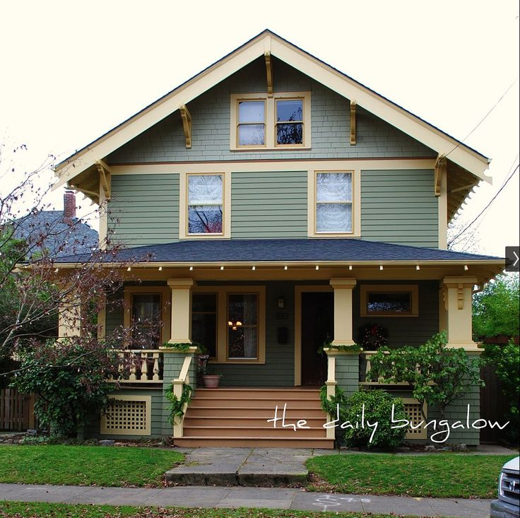 Best Color Combinations For Home Exterior: 17 Best Images About Craftsman Bungalow Colors On