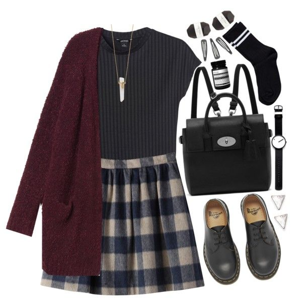 106 | school (tag) by tmizzle on Polyvore featuring Monki, Pieces, Dr. Martens, Mulberry, Jennifer Zeuner, Rosendahl, With Love From CA, Aesop, Pelle and school