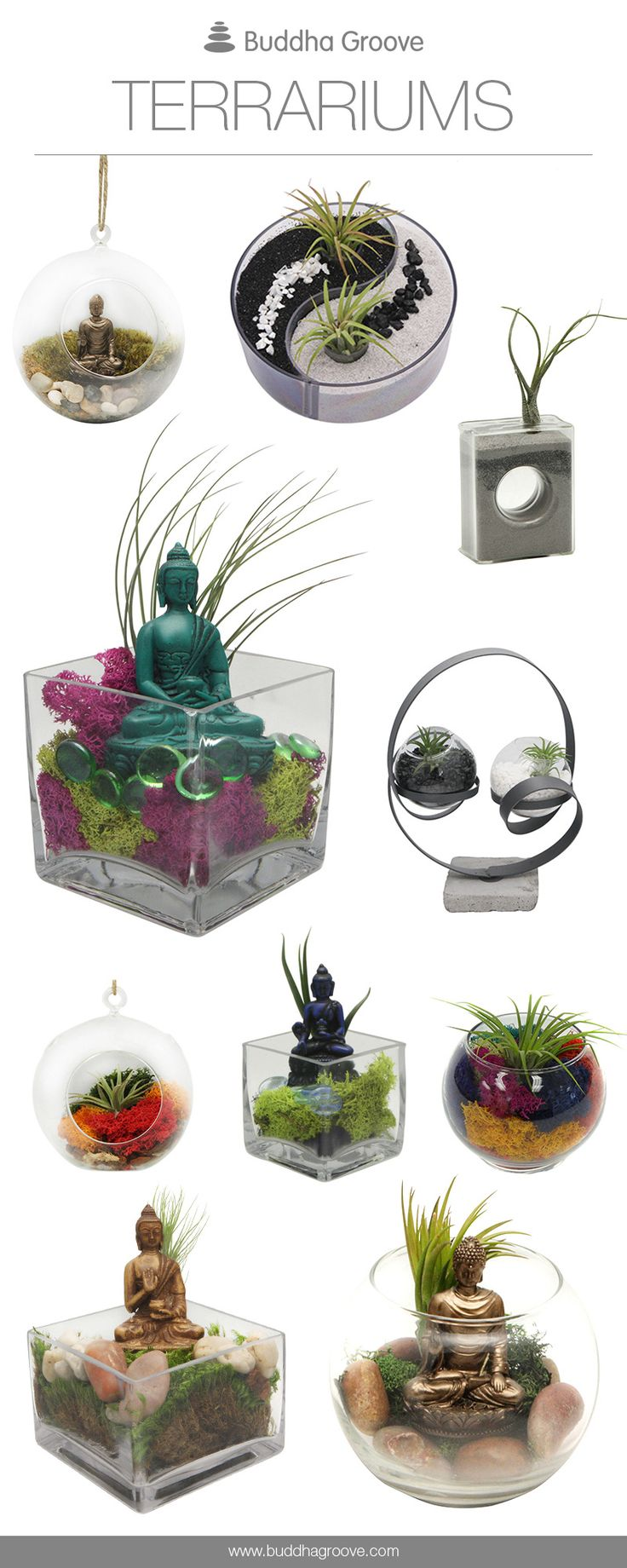 #Buddha and #Zen Terrariums